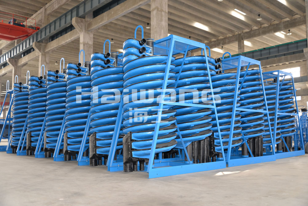 High Quantity Efficiency Abrasion Resistance Spiral Chute