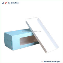 New design plain food grade swiss roll cake box wholesale with a competitive price