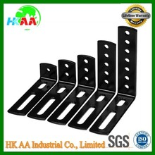 Custom stamping products spare parts L Bracket hardware, black oxide hardward angle brackets for furniture bed