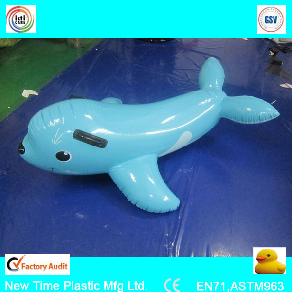 pvc inflatale shark cartoon/animal for advertising