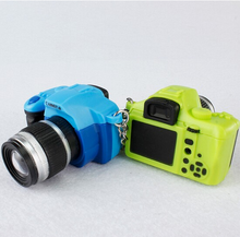 Cute Digital Mini Camera LED flashing keychain for kids