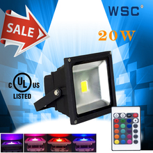 China suppliers CE UL(E4738647) listed Christmas color changing outdoor led flood light 20w