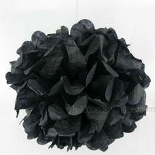 Black Wedding Birthday Party Festival Hanging Decorative Flower Ball