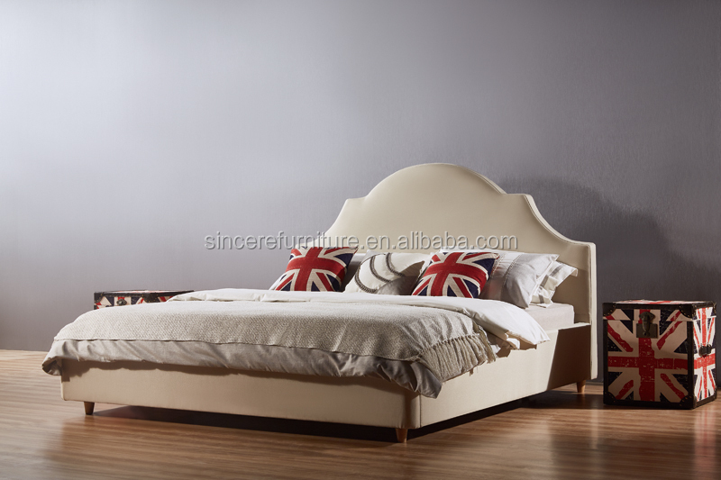 American style sleigh bed, traditional bed design