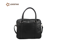 Black Fashion Business Leather Laptop Bag Men