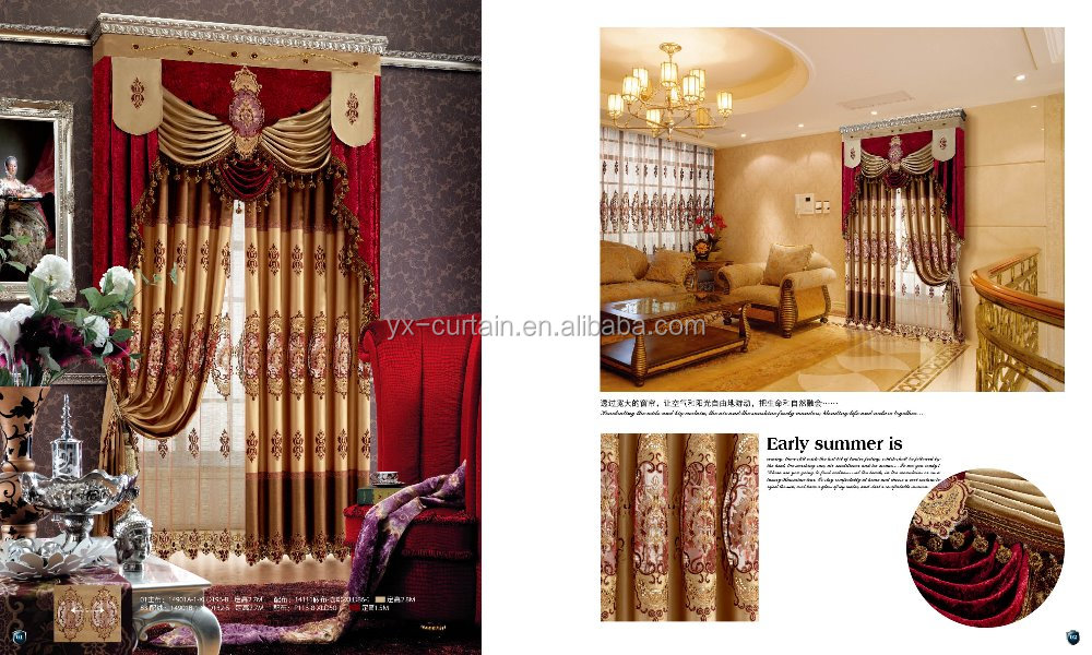 Luxury embroidered pattern window curtain