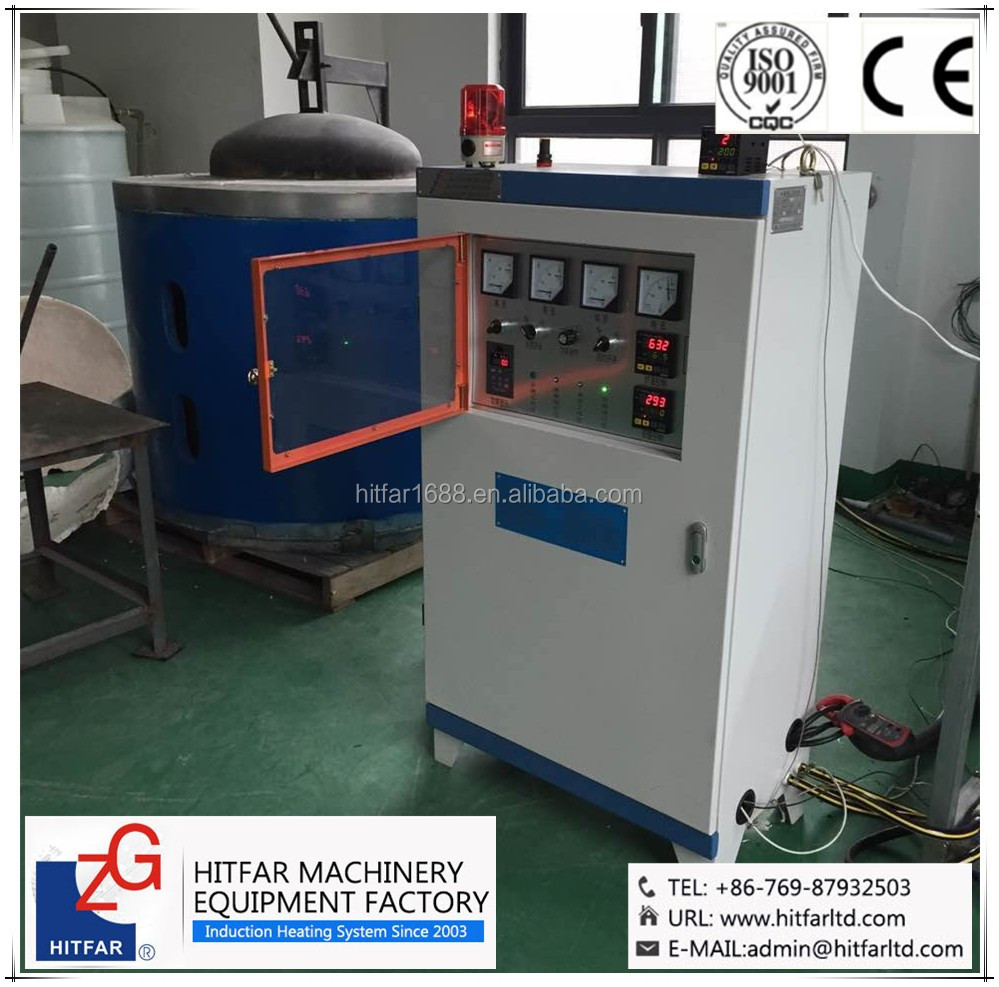 aluminium smelter:600kgs aluminum ingot induction melting holding furnace