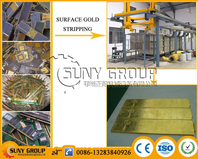 environment friendly gold stripping machine for e waste recycling