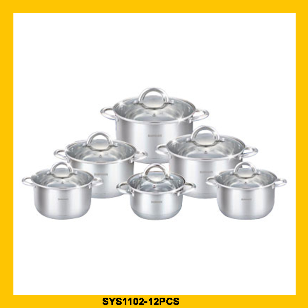 Hot selling technique stainless steel cookware with temperature knobs with low price