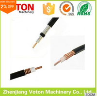 factory price hot selling extension Supplier cable Low Loss Flexible 500 Double Shielded coaxial cable with Black PVC