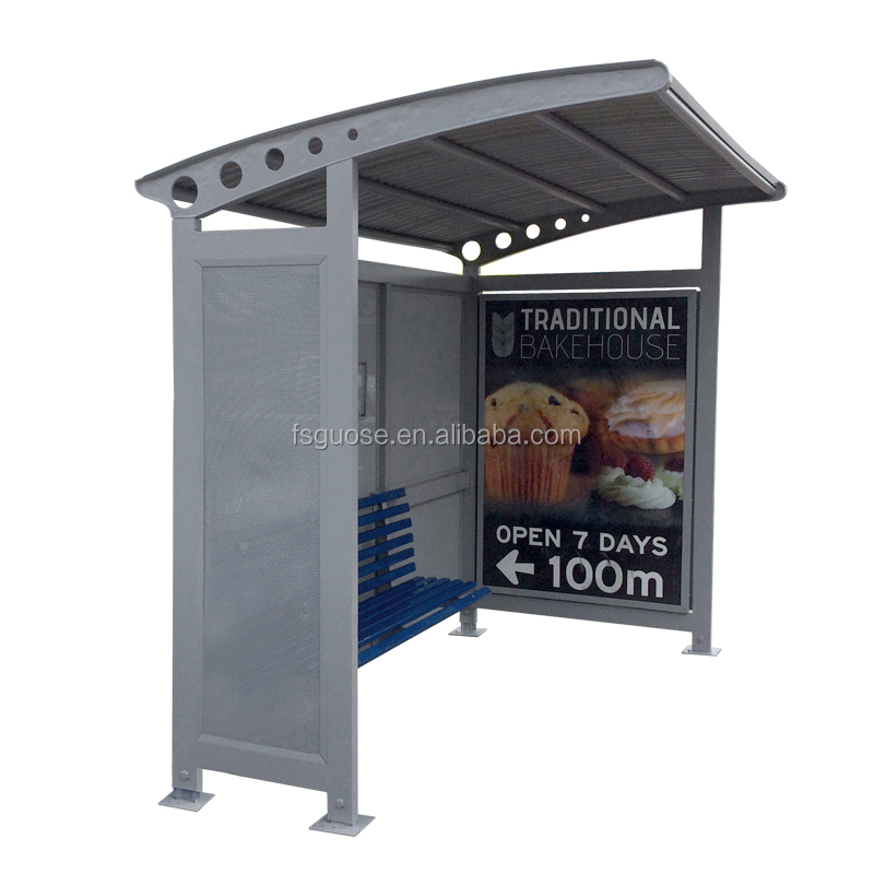 outdoor advertising billboard led digital billboard stand aluminium frame with glass panel solar led street light bus shelter