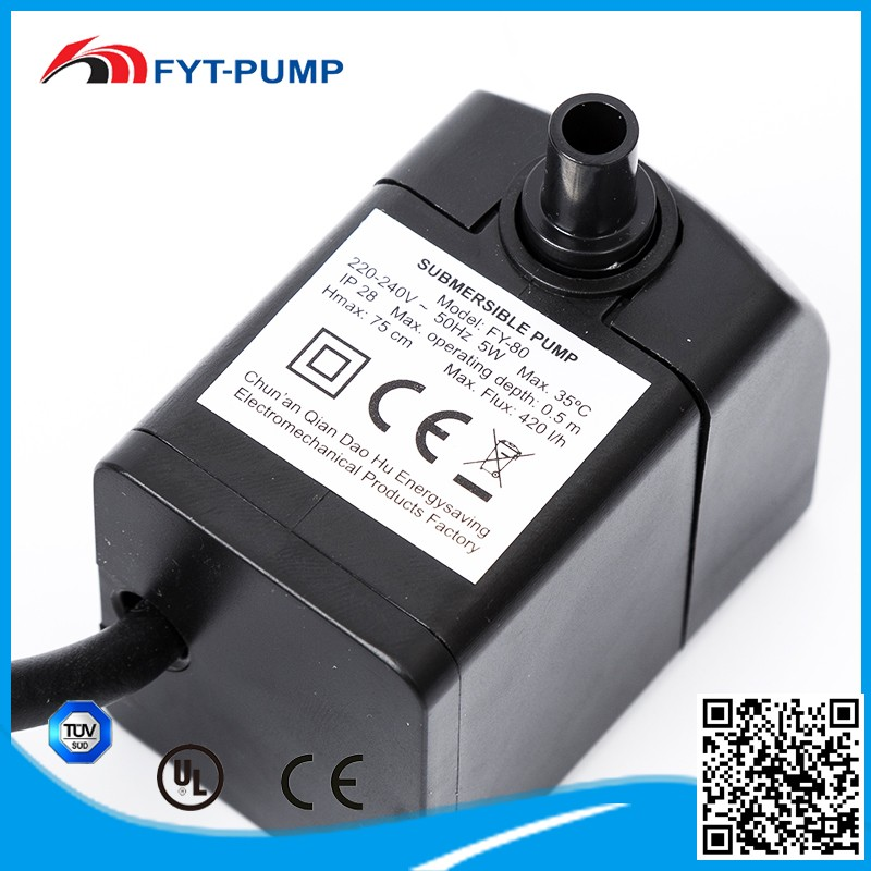 IP28 single stage 5w small electric centrifugal submersible sewage pump