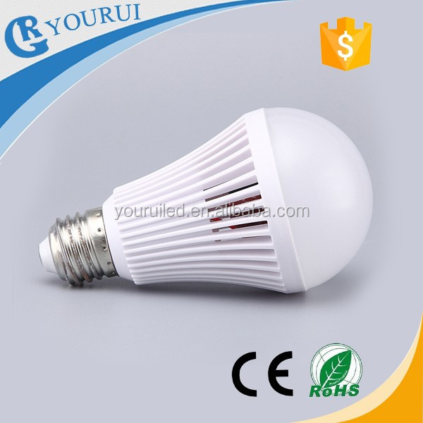 Hot sell 7w rechargeable emergency led light bulb with high battery capacity