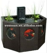1pc outdoor living room PE rattan wicker fish furniture