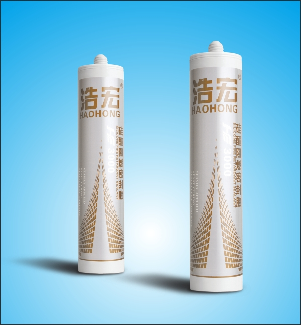 Haohong HH-3000 black acetic silicone sealan/sealing silicone sealant/fire retardant silicone sealant