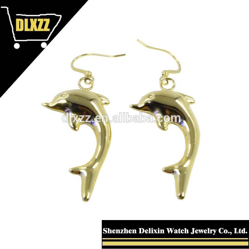 DLXZZ new Stylish Dolphin Earrings, 316L stainless steel earrings Singsing star gold Earrings wholesale manufacturers
