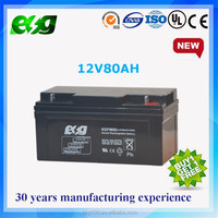 Valve regulated ups battery 12V 80Ah Deepcycle Sla Solar Energy Storage Battery