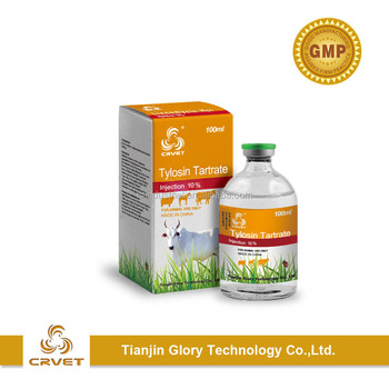 Factory Supply Tylosin Tartrate Injection 5% 10% 20% for Veterinary Use