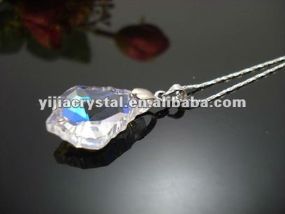 handmake diamond crystal necklace pendant jewelry