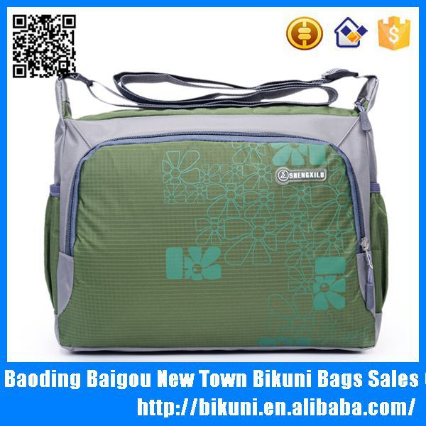 Colorful nylon big capacity sport bag with ball holder