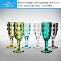 colored crystal german wholesale glassware