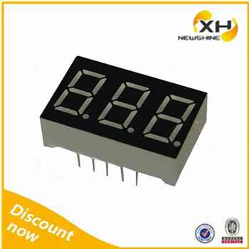 0.8Inch triple digit 7 segment led display / 0.8Inch 3 digit 7 segment led display