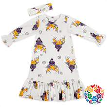 2017 Baby Girl Party Summer Dress Children Frocks Designs 0-6 Years Long Sleeve Girl Baby Dress