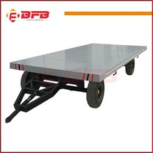 Professional galvanized utility trailer flat top trailers twin axle