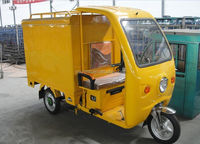 gas cargo three wheel 3 wheel with closed cabin passenger two seat tricycle