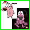 E475 Hot Product Courage The Cowardly Dog Plush Toy for Sales