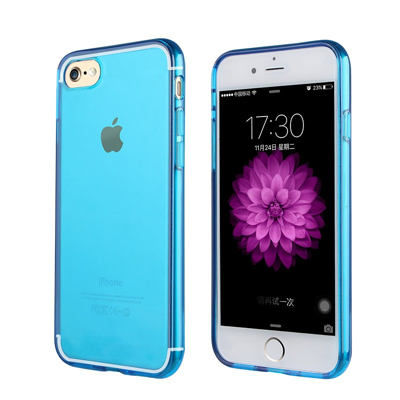 Impact Resistant Protective Shell clean tpu case for iphone 7