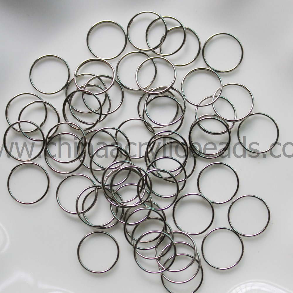 1.5 circle stainless steel jump rings with gold/silver Tone Split Rings Chandelier Pins Crystal Connectors jump rings11/13MM