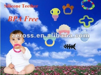 FDA Soft Silicone Rubber Baby teether