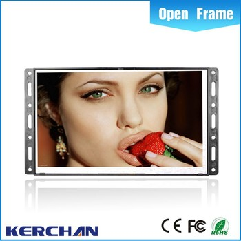 Open frame video pop display counter