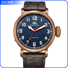 Bronze watches was made in a high quality bronze CuSn8 with atuomatic movt for men watches
