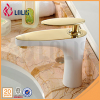 (YLS822-11AE) European white solid brass gold bathroom faucets