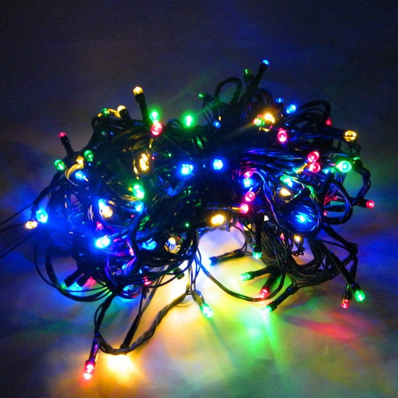 Solar 100leds outdoor courtyard Colorful invisible hanging christmas string holiday tree Light