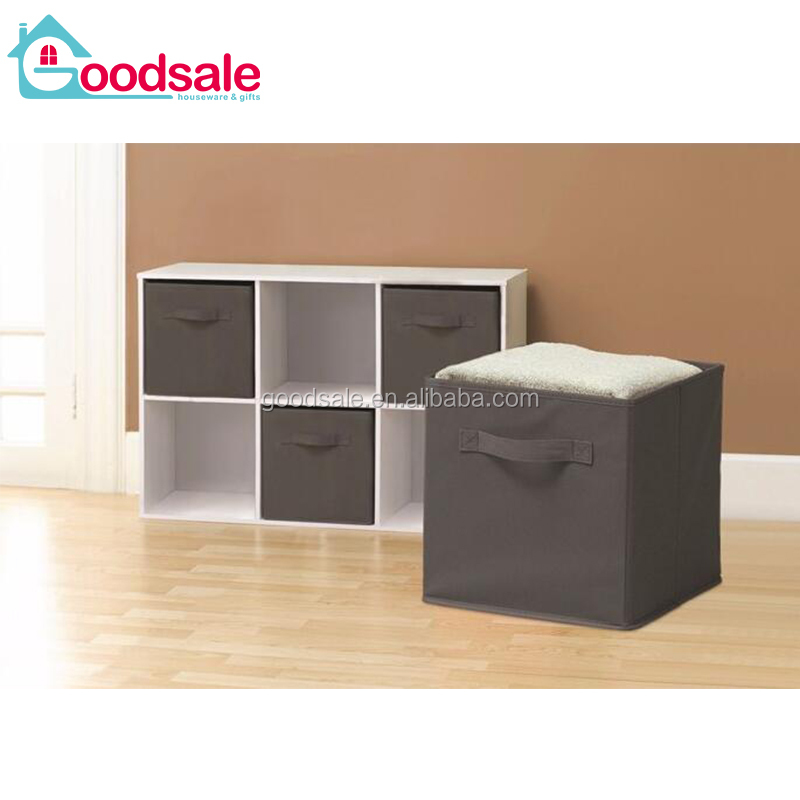 6 set Living room closet drawer foldable storage box decorative cardboard cabinet organizer box with handle