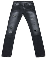 New design 98% cotton 2% spandex mens denim jeans,man's rush wash skinny jeans factory Guangdong