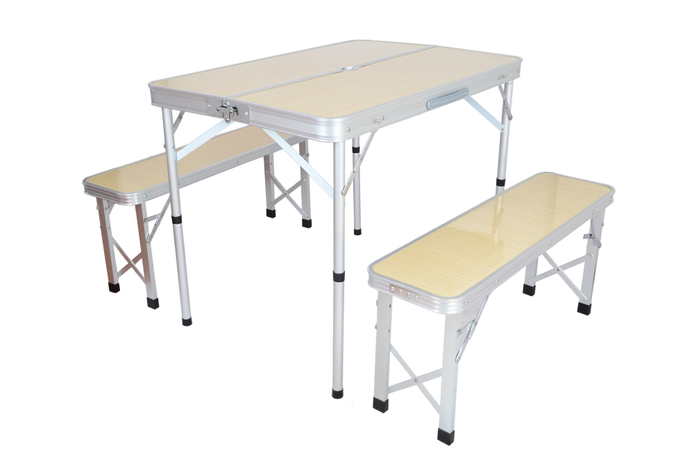 Handy Camping Stools ~ Handy aluminum folding table and chair for picnic camping