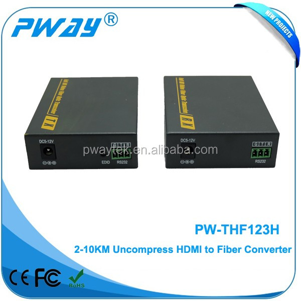 Shenzhen PW-THF123 4K HDMI optical RS232 audio converter full HD HDMI fiber optic video transmitter extender 2km/10km HDMI1.4
