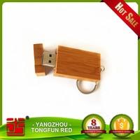 Customized logo engraving Swivel Bamboo Material 4GB 8GB 16GB USB 2.0 flash drive