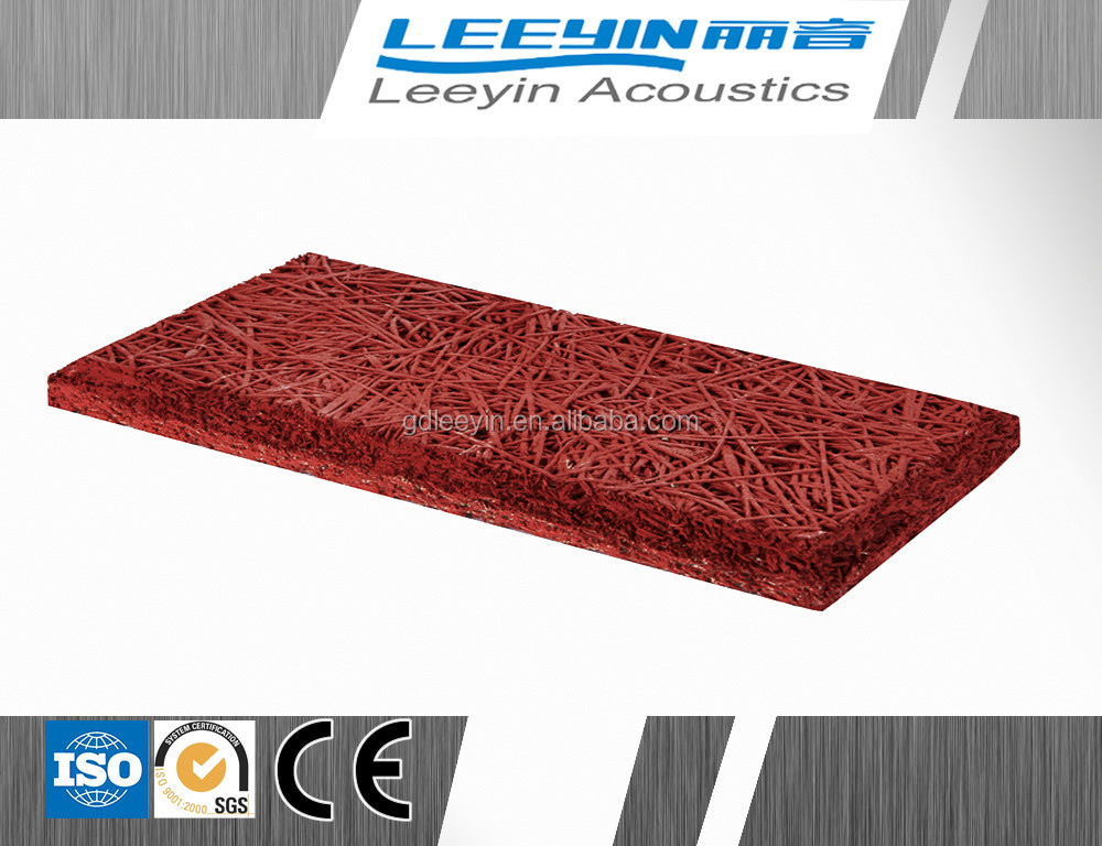 acoustic sound insulation wood wool fiber cement board interior wall panels