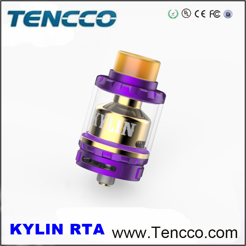 2017 Newest Vandy Vape Kylin RTA Multi-Color With Single And Dual Coil, 6ml Chimney And Pyrex Glass