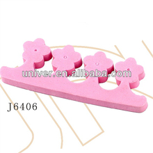 Hot Sell Nail Art EVA Toe Beautification Separators with Cloth Flowers,Finger Separator for Manicure & Nail Art