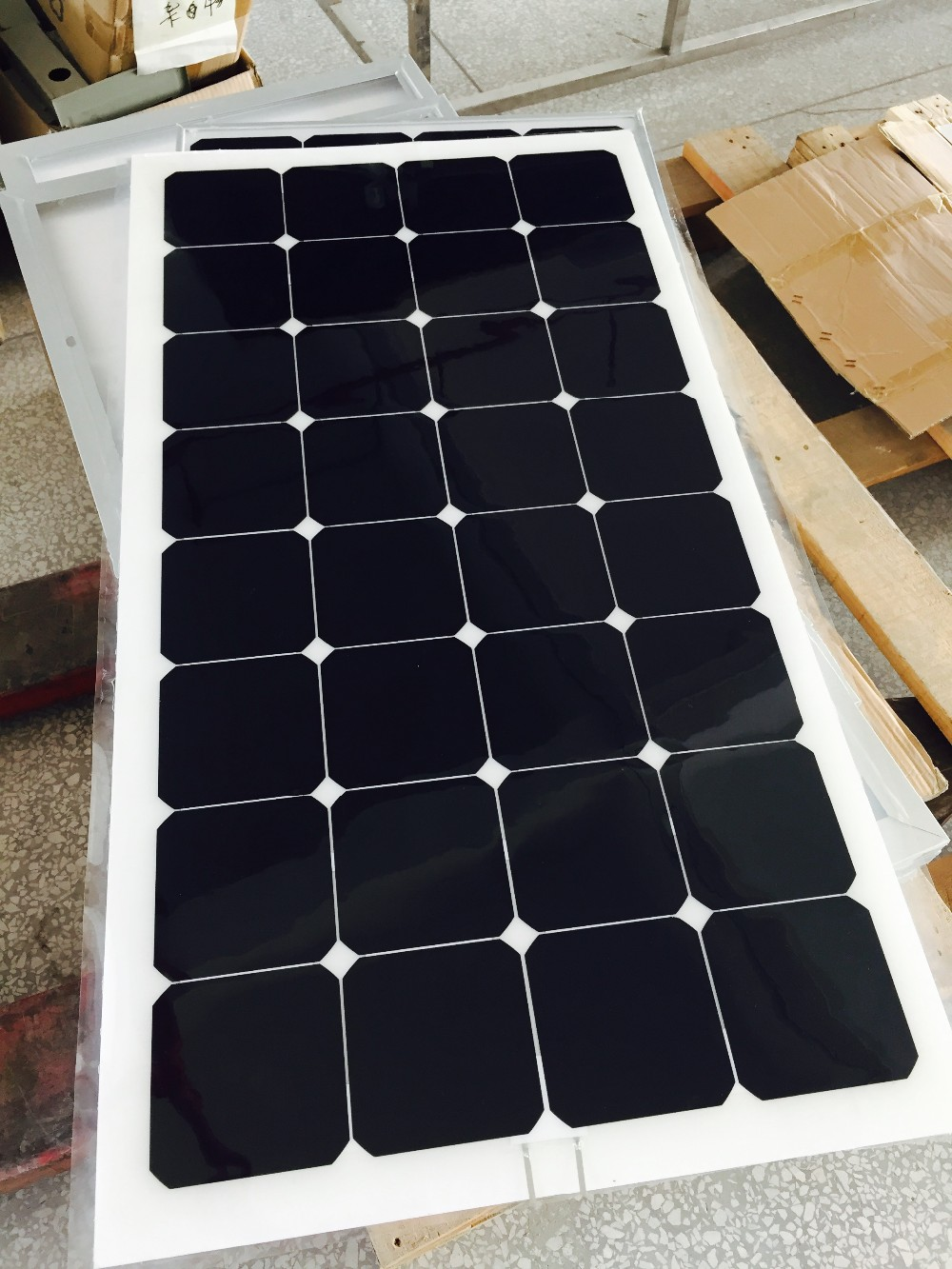 Best price mono solar cell semi flexible solar panel 100w 18v module