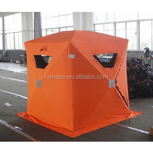 Windproof Waterproof Lightproof Fire Retardant Hub Style 2 to 4 Person Ice Fishing Shelters Ice Fishing Tent RS9005