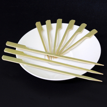 Custom size rotating bbq skewer bamboo for bbq /barbecue skewers