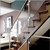 Removable mirror/satin finish stainless steel railing