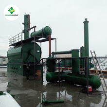 90% oil yiled waste TIRE PLASTIC RUBBER oil distillation to diesel plant
